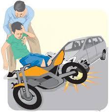 pura pura terjatuh dari motor